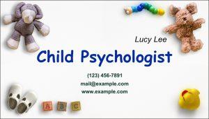 child psychologist card