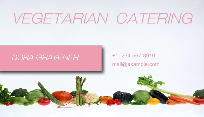 catering service card