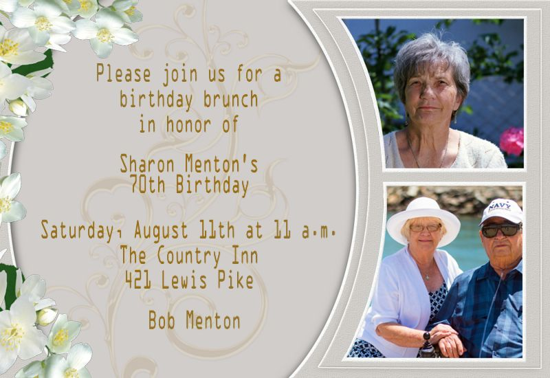 invitation card for grandmother