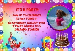 birthday invitation for a child