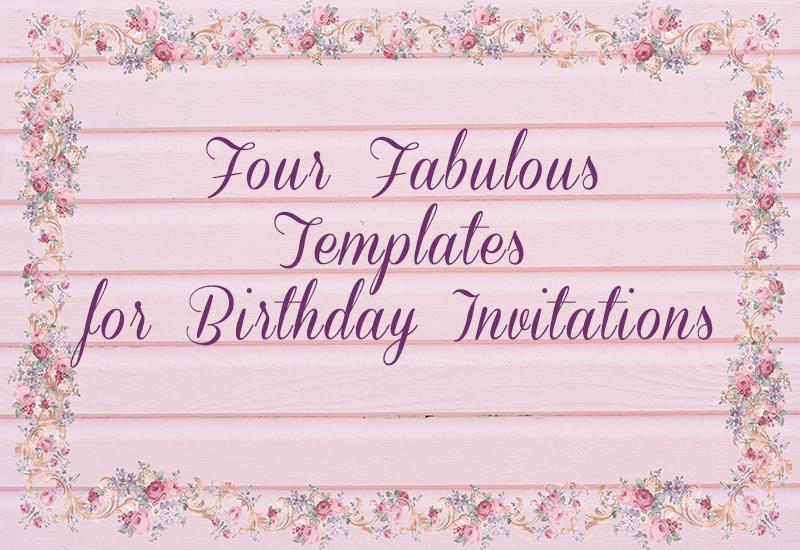 Four fabulous templates for birthday invitations creative photo birthday invitation ideas filmwisefo Choice Image