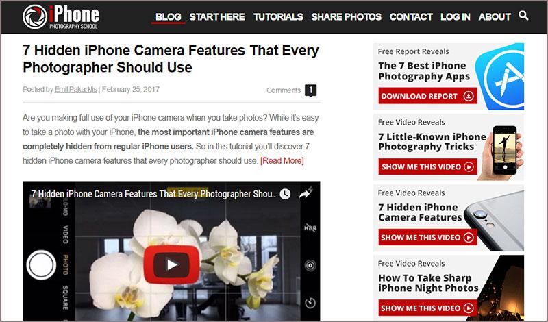 iPhone photography blog