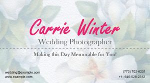 Card with a floral background