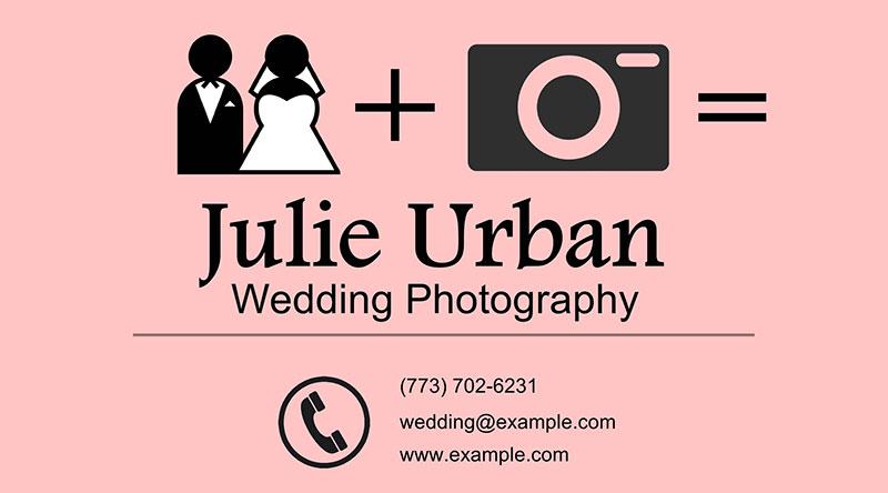 Symbolic wedding card