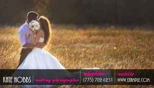 Wedding photography card