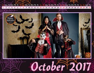 Calendar with cosplay photos