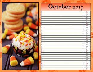 Trick-or-treat calendar