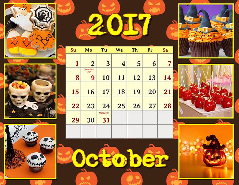 Symbolic calendar for Halloween