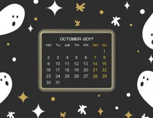 Simple Halloween calendar