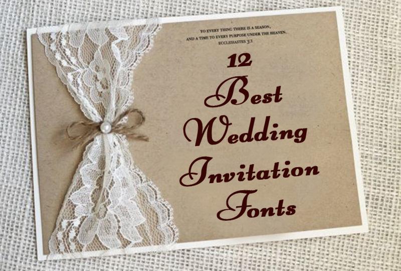 Best Wedding Invitation Fonts 12 Card Design Samples